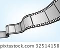 特寫電影 / 攝影 35mm 底片模板,向量3D元素。 32514158