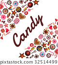 candy, vector, chocolate 32514499