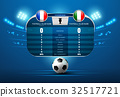 soccer football with scoreboard and spotlight 32517721