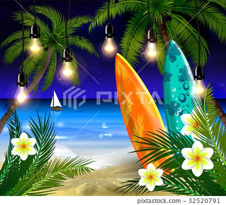 Palm trees at night 32520791