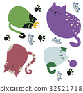 cartoon cats set. flat style vector illustration 32521718