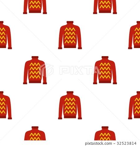 Red warm sweater pattern seamless 32523814