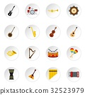 instrument, music, icons 32523979