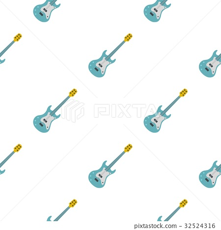 Blue electric guitar pattern seamless 32524316