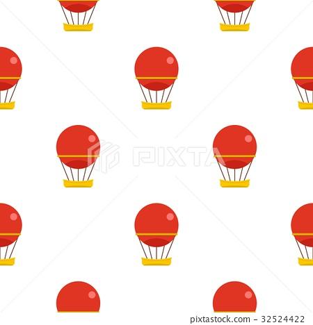 Red aerostat balloon pattern seamless 32524422