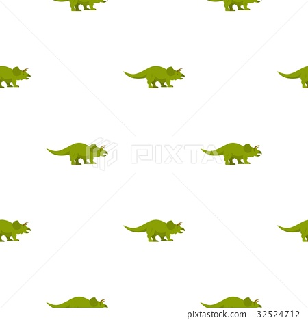 Green styracosaurus dinosaur pattern seamless 32524712