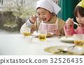 森林學校小學生吃飯 32526435
