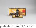 figure off historic samurai armor 32527516