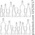 ขวดไวน์และแก้ว 32529217