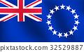 Flag of Cook Island - Vector Illustration 32529887