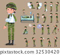 flat type military wear woman_sickness 32530420