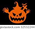 ハロウィン かぼちゃ お化け 32532244