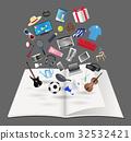 book, open, vector 32532421