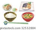 早餐 水彩畫 日本料理 32532884