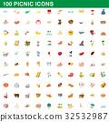 100, picnic, icon 32532987