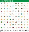 100 宠物 图标 32532988