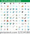 100, applications, cartoon 32534588