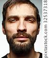 The sad man and face closeup 32537318