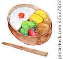 水彩插圖食品盒午餐 32537872