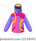 ski, jacket, flat 32538445