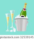 香檳 桶 瓶子 32539145