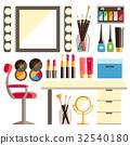 Vector, flat, makeup 32540180