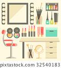 Vector, flat, makeup 32540183