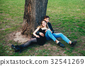 portrait of sexy couple outdoor in love 32541269