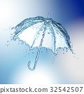 Water splash in the form of a umbrella. 32542507