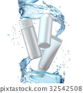 Design cosmetics product advertising in water 32542508