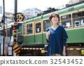 女性旅行短途旅行步行一個人 32543452