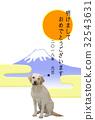 新年賀卡 日出 富士山 32543631
