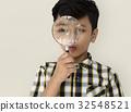 Child Boy Studio Portrait Gesture 32548521