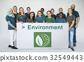 Group of Diverse People Showing Recycle Sign Eco Friendly Save Earth Word Graphic 32549443