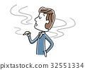 담배를 피우는 남성 32551334