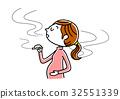 일러스트, 벡터, 담배 32551339