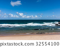 해변가, 모래밭, 바다 32554100