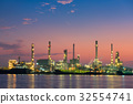 Oil Refinery and Loading dock at Twilight 32554741