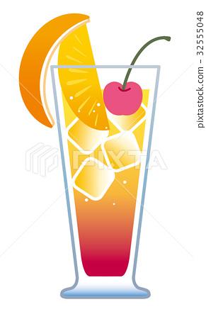 Cocktail Cassis Orange Illustration Stock Illustration 32555048
