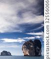 limestone formations in the Adaman sea, Thailand 32556066