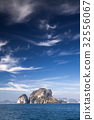 limestone formations in the Adaman sea, Thailand 32556067