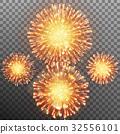 Festive firework effect. EPS 10 vector 32556101