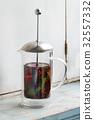 Hot herbal tea 32557332
