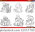 cats on Christmas set coloring book 32557783