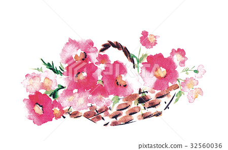 꽃, 플라워, 수채화 물감 32560036
