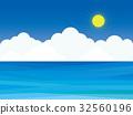 바다 구름 하늘 태양 32560196