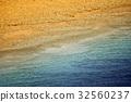 Edge of sea and sand beach 32560237