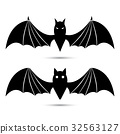 Vector silhouettes of bats 32563127