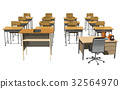 classroom, chair, chairs 32564970
