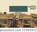 教室 椅子 桌子 32564975